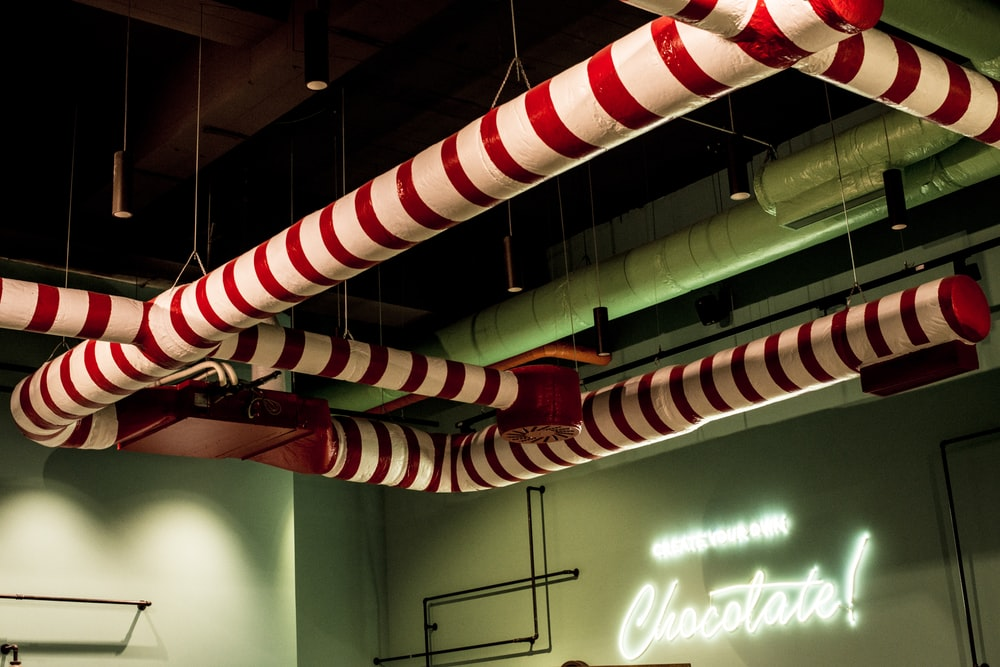 white red and green striped candy cane