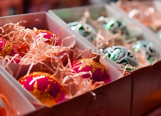 assorted candies on white plastic container