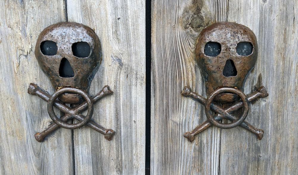 brown wooden door lock on brown wooden door