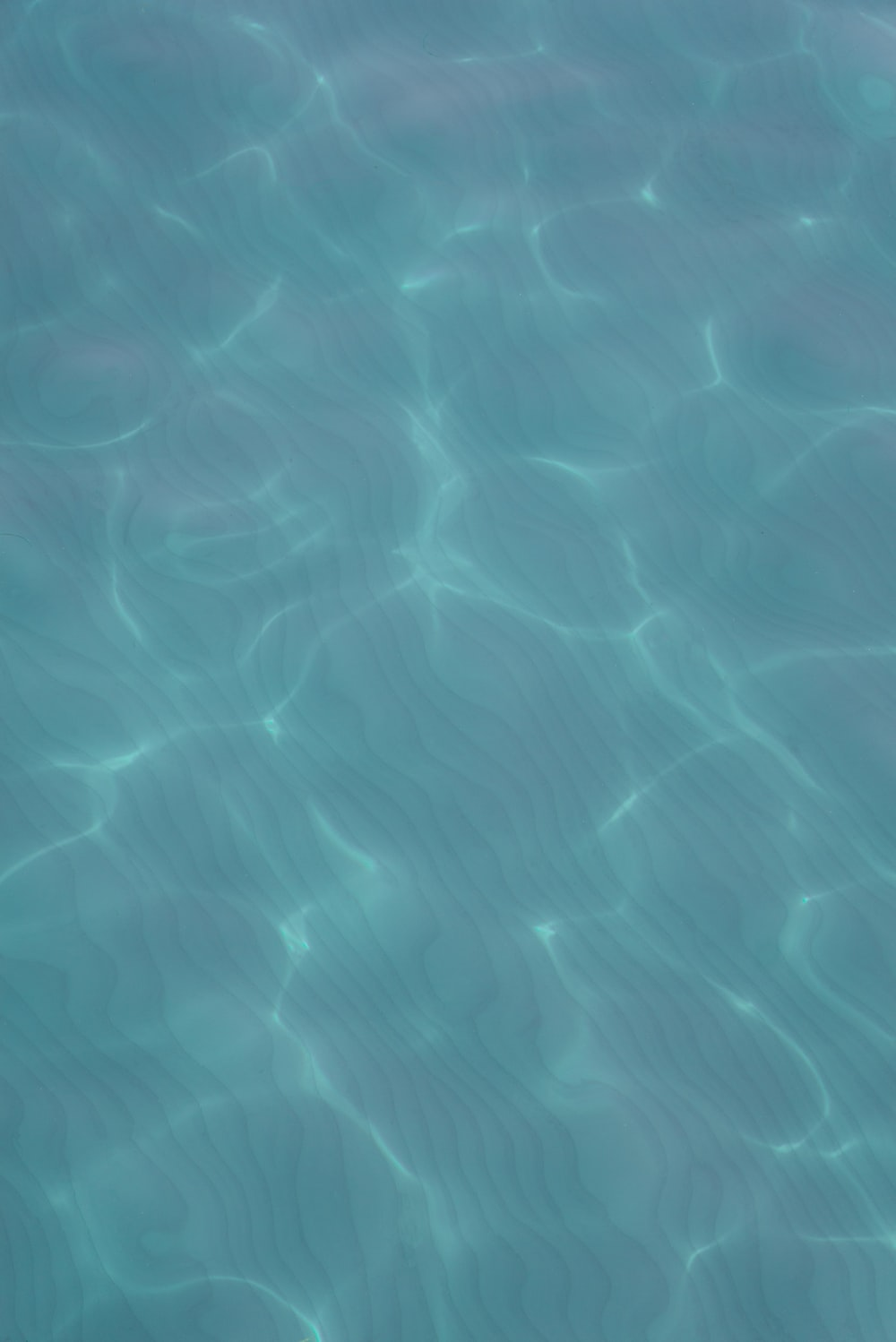 blue water with white light