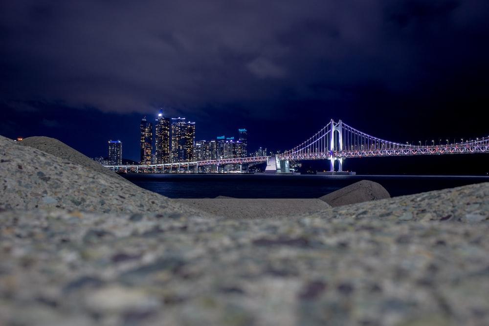 golden gate bridge during night time
