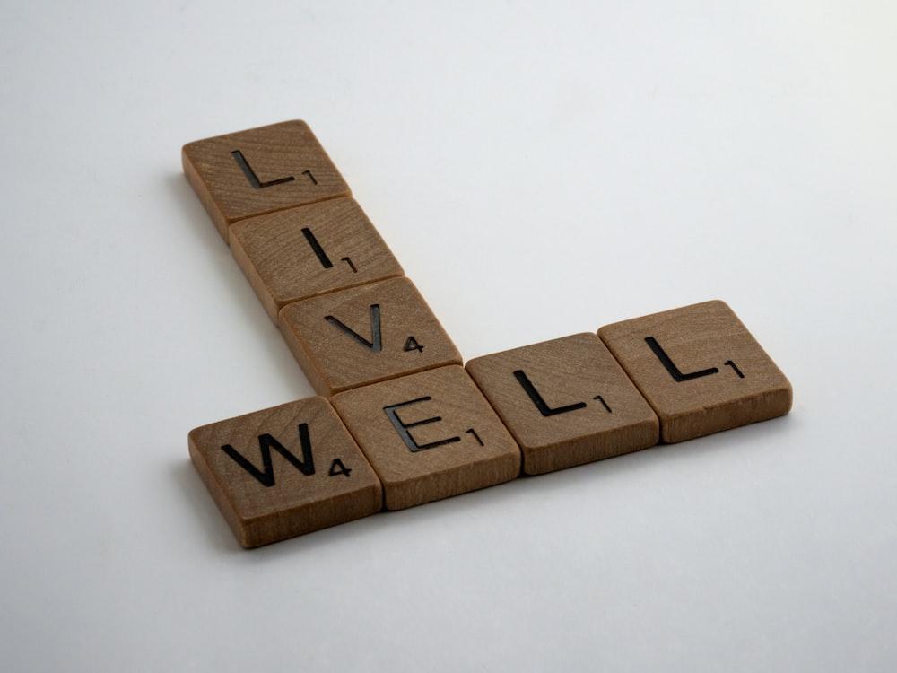 brown wooden letter letter blocks