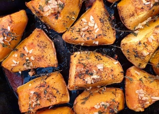 Roast pumpkin. Seasonally perfect food as Halloween approaches.