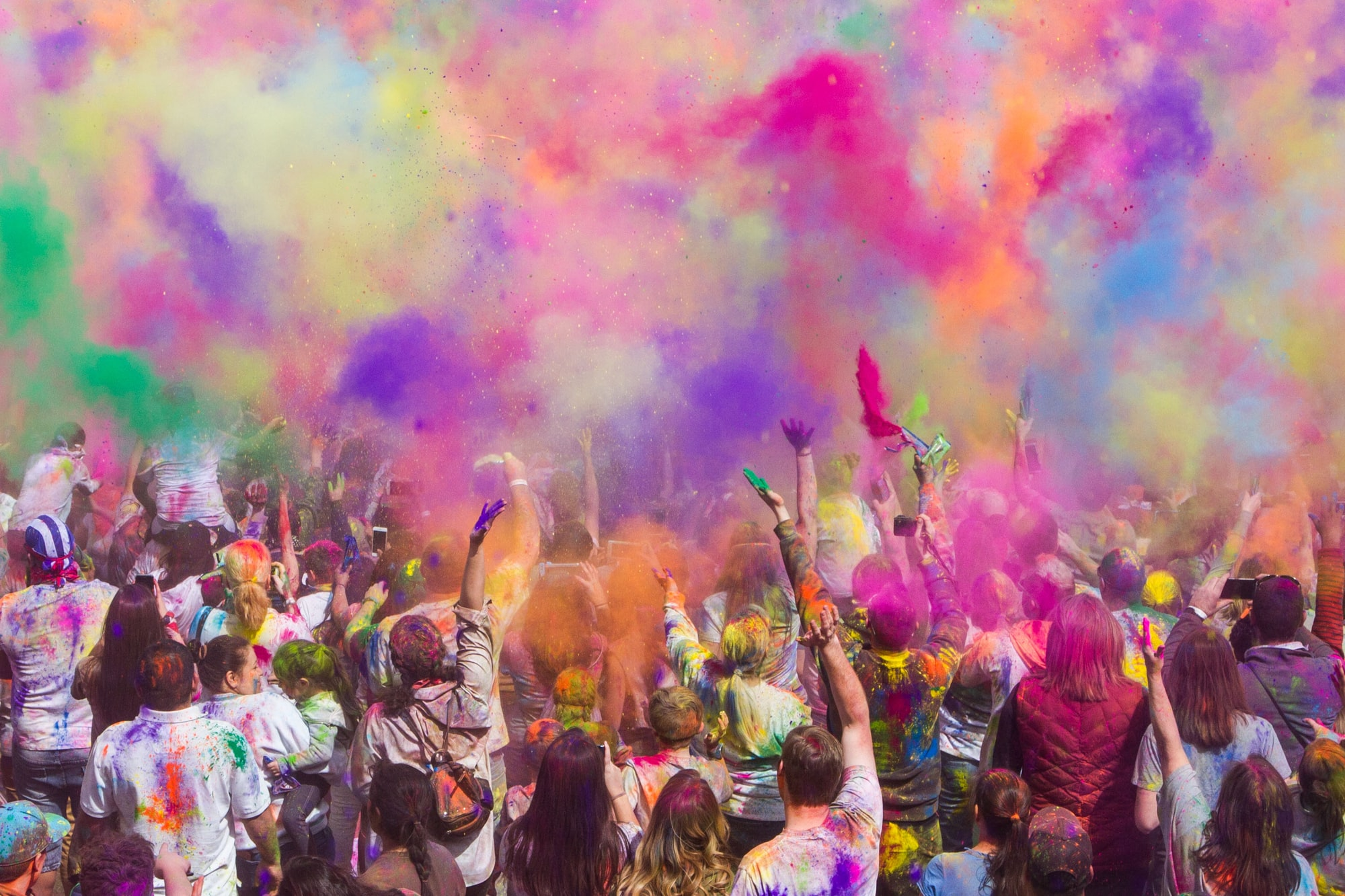 Holi festival in Spanish Fork, UT.