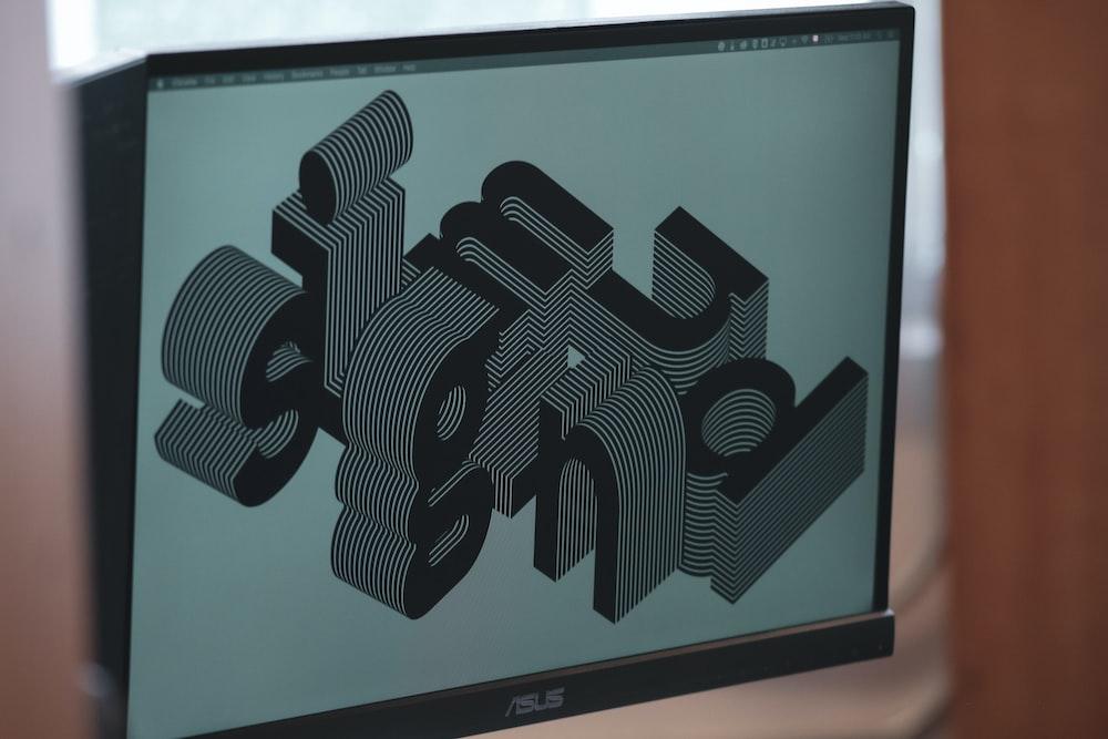 black dell flat screen computer monitor