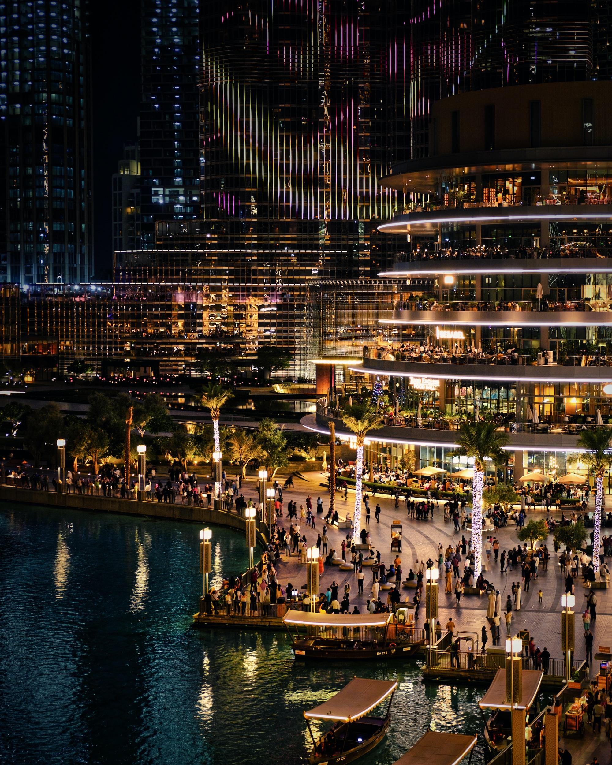In front of Dubai fountain