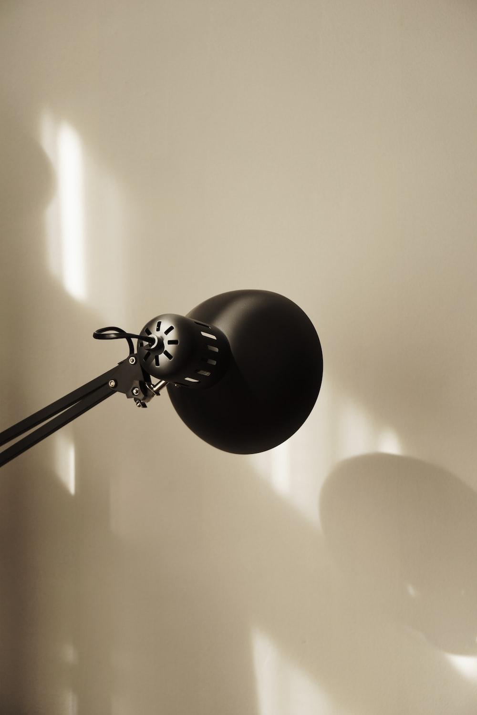 black and white desk lamp