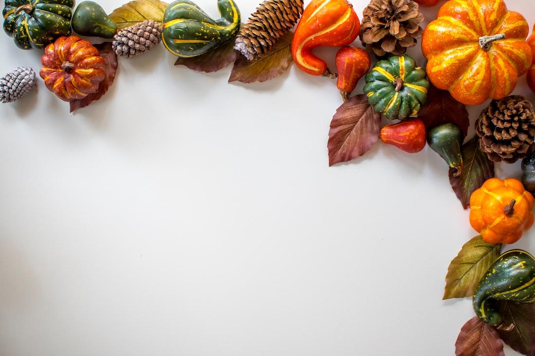 Pumpkin Spice Fall Border - unsplash