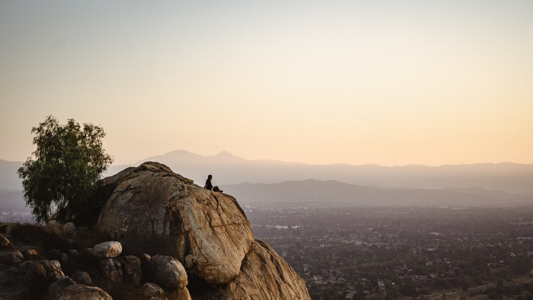 Looking Out Onto Riverside On Top of Mount Rubidoux - unsplash