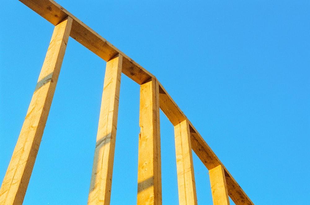 brown wooden frame under blue sky during daytime
