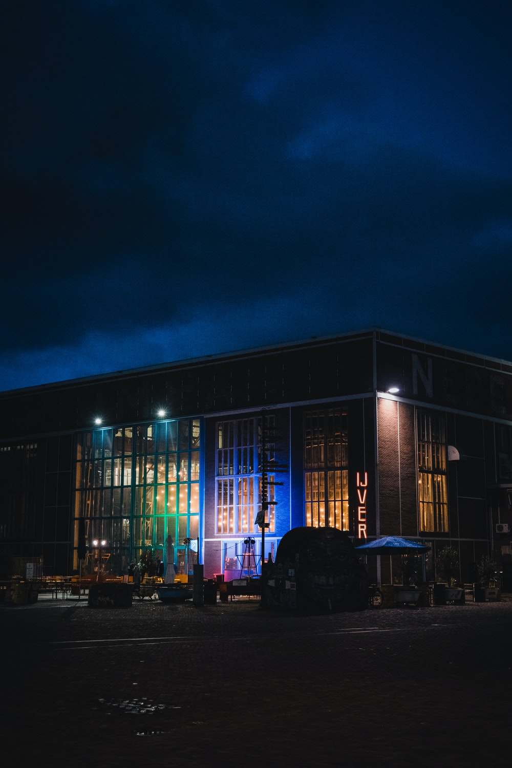 brown concrete building during nighttime