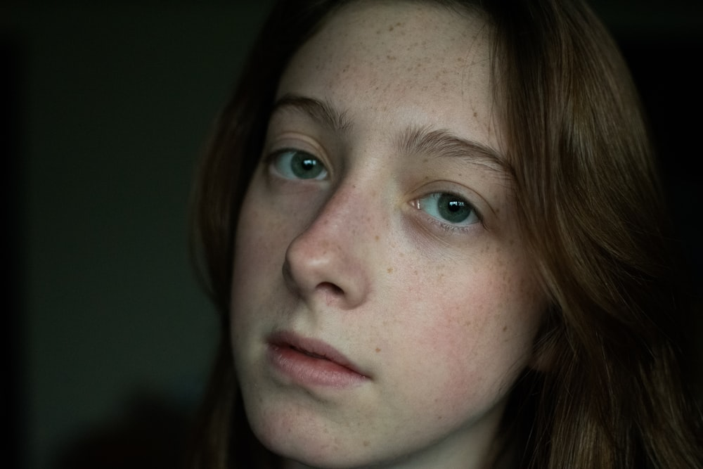 woman with brown hair and brown eyes