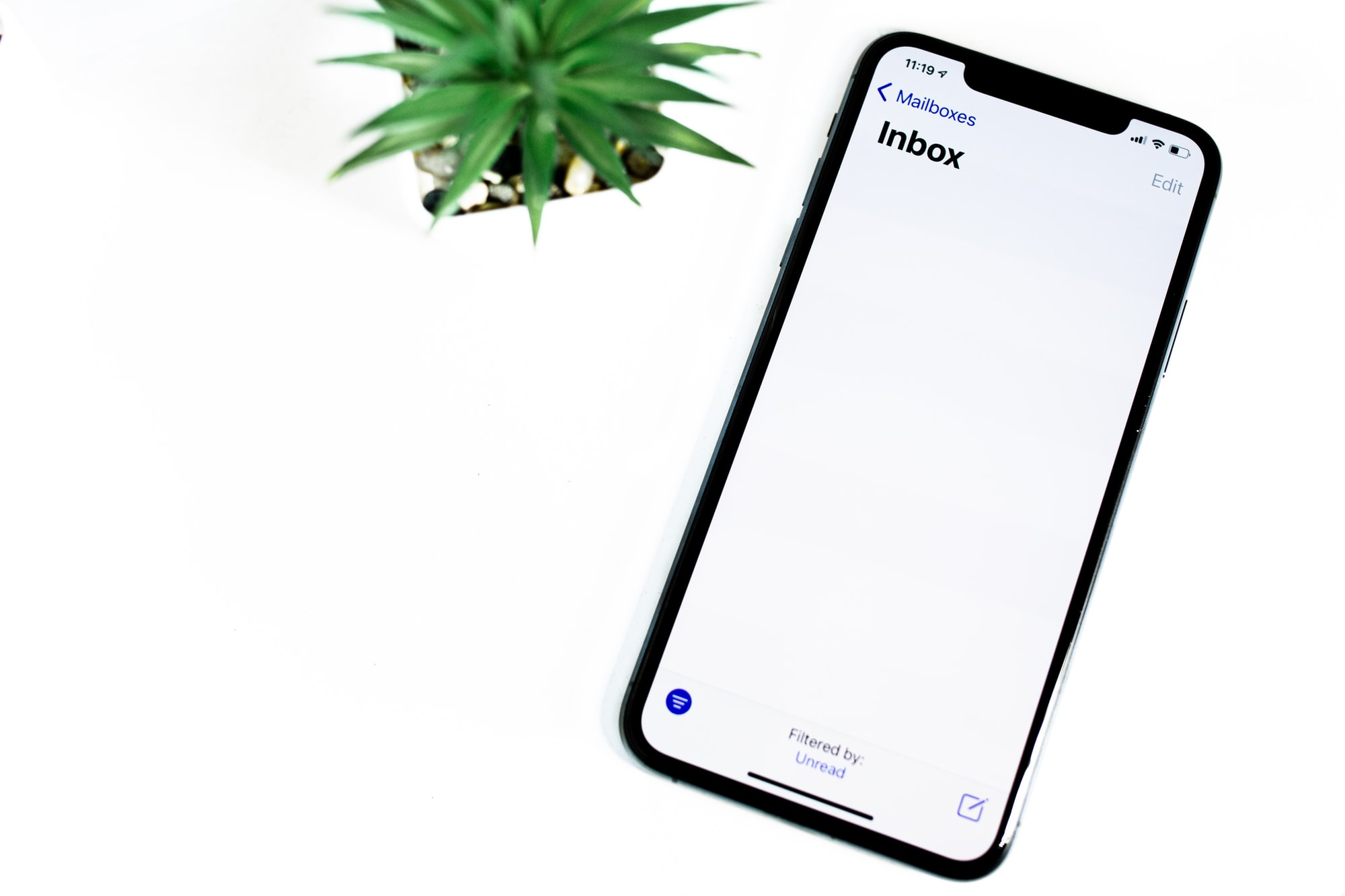 Email program on smartphone