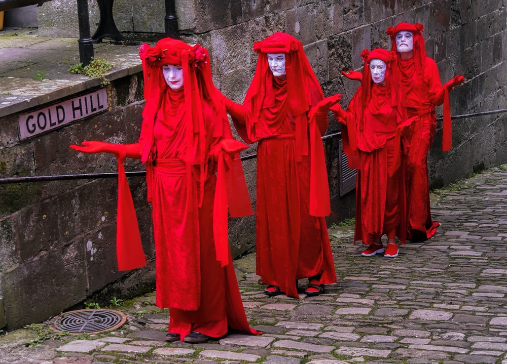 womens red long sleeve dress