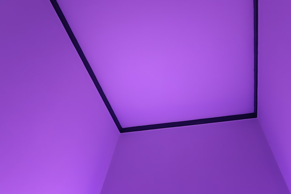 pink and white ceiling tiles