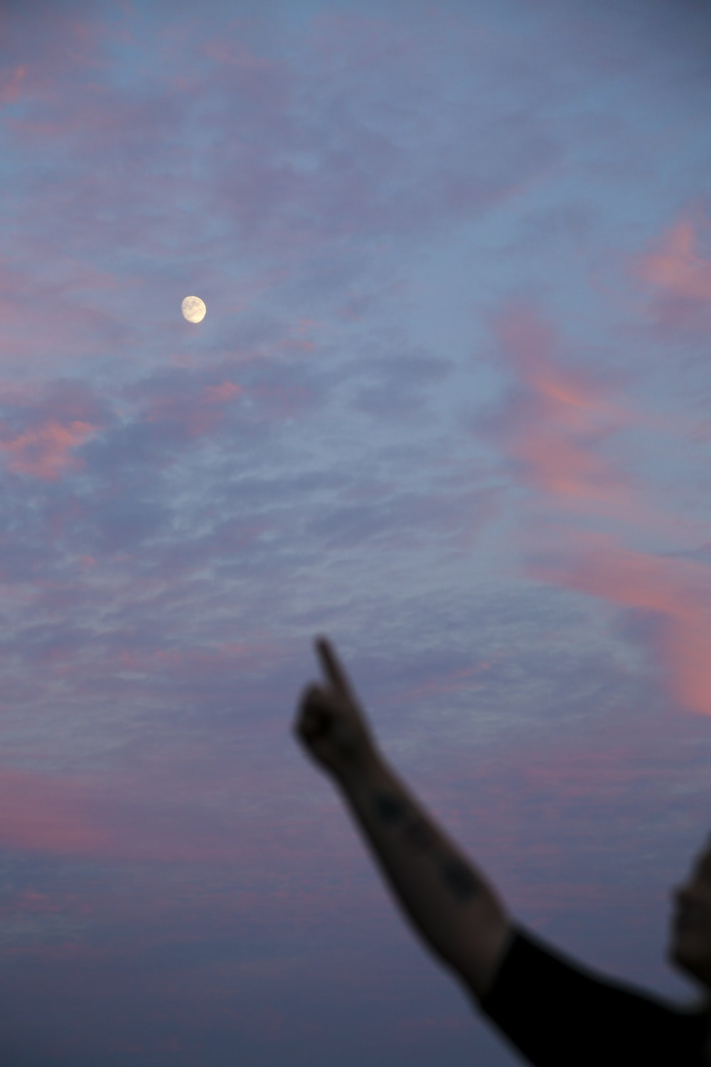 person holding a full moon