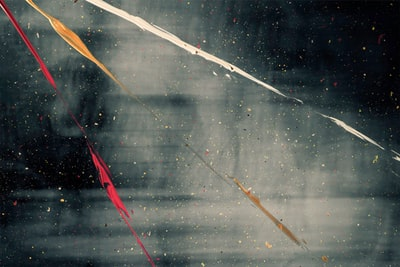 white and red string lights constructivism zoom background