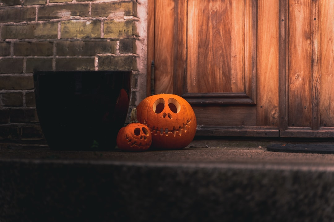 Jack O Lantern On Black Floor - unsplash