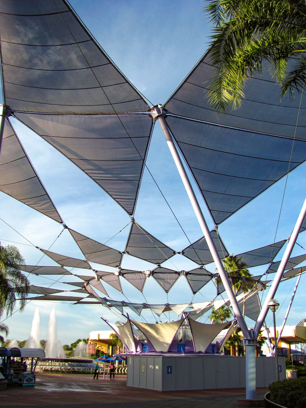 white and blue canopy tent