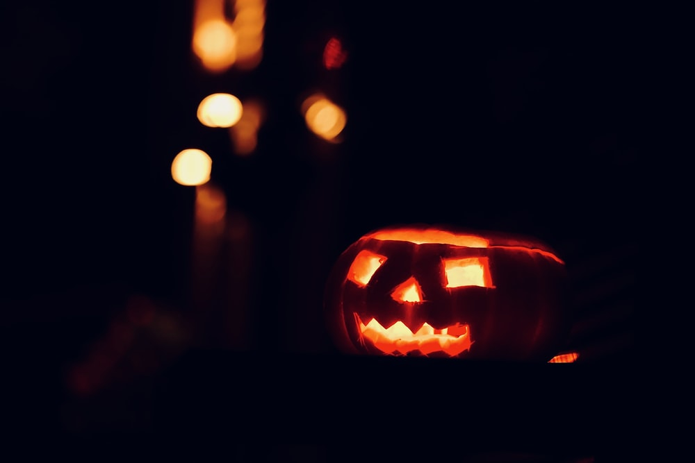jack o lantern with light