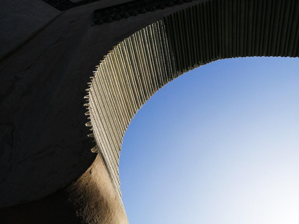 low angle view of a concrete bridge