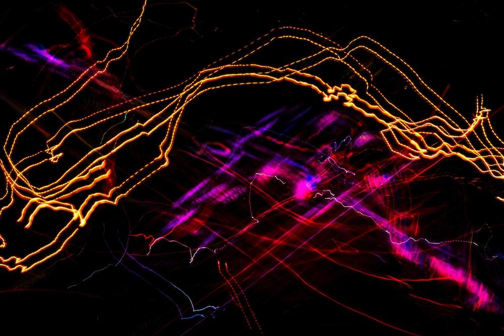 purple and red light streaks