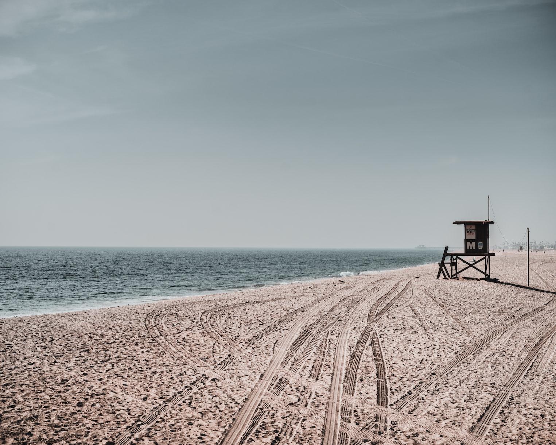 sandy beach in Long Beach, California
