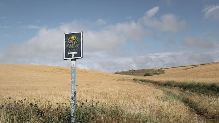 camino de santiago signage