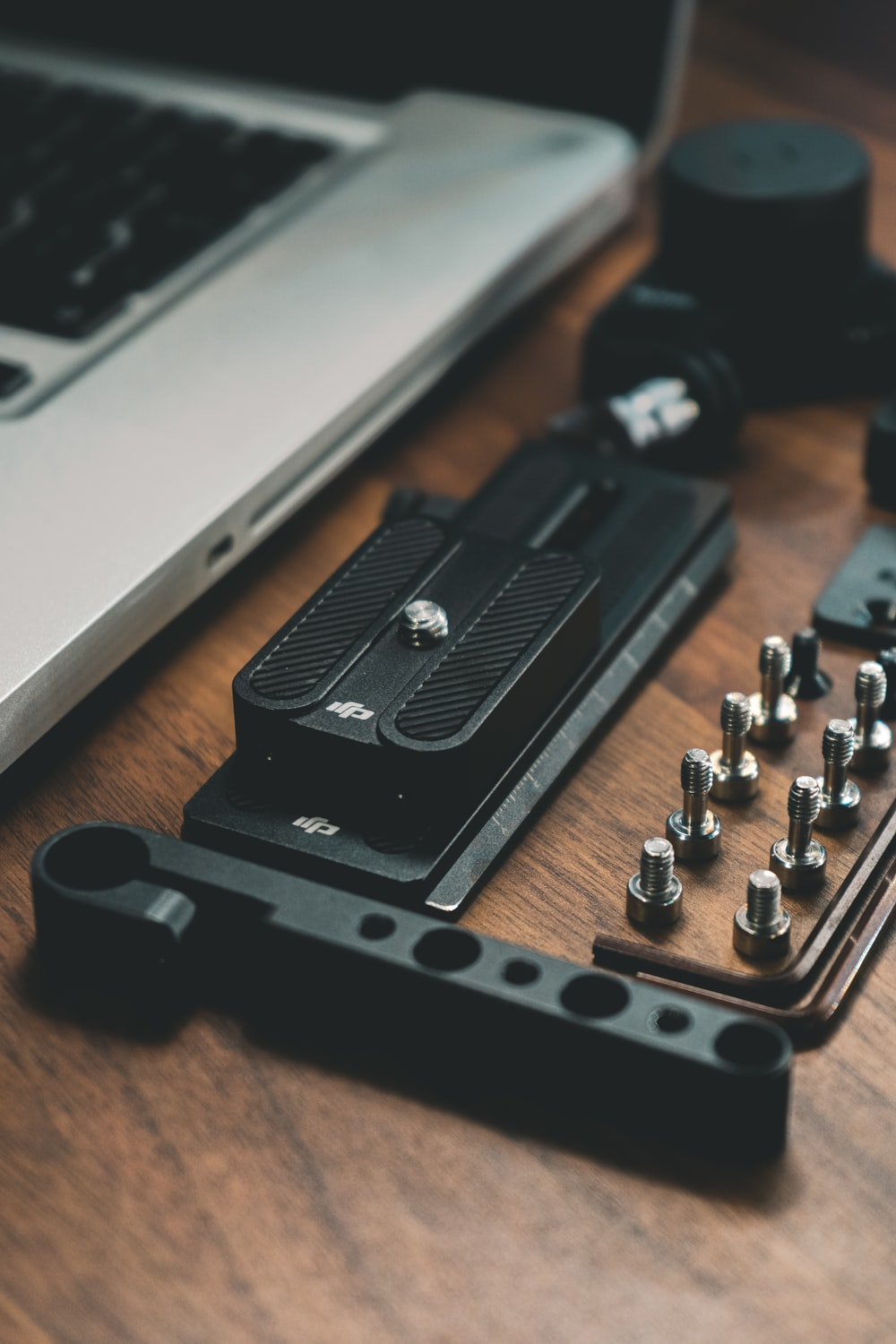 black and silver tool kit