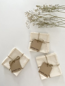 handcrafted handkerchief made in France by ernest&lulu brand, organic cotton, zero waste
