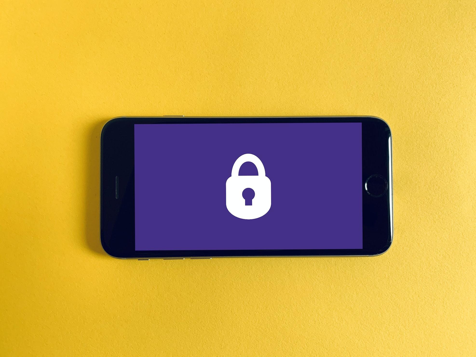 Image of iPhone with lock symbol