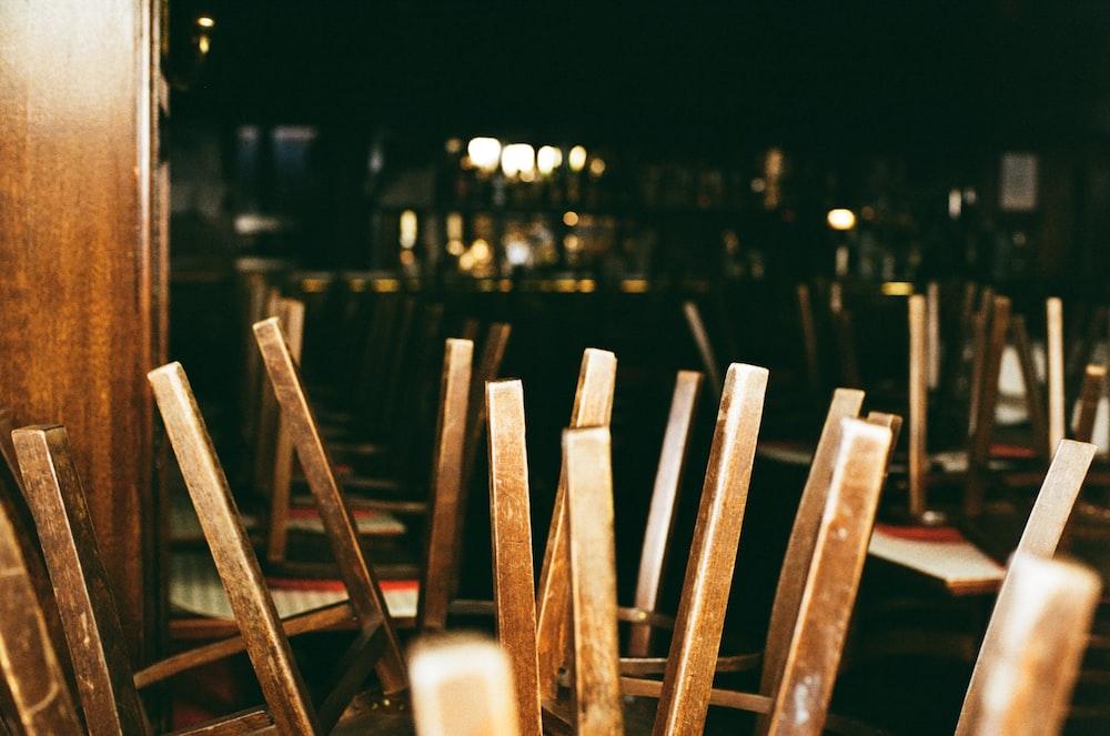 brown wooden sticks on black surface