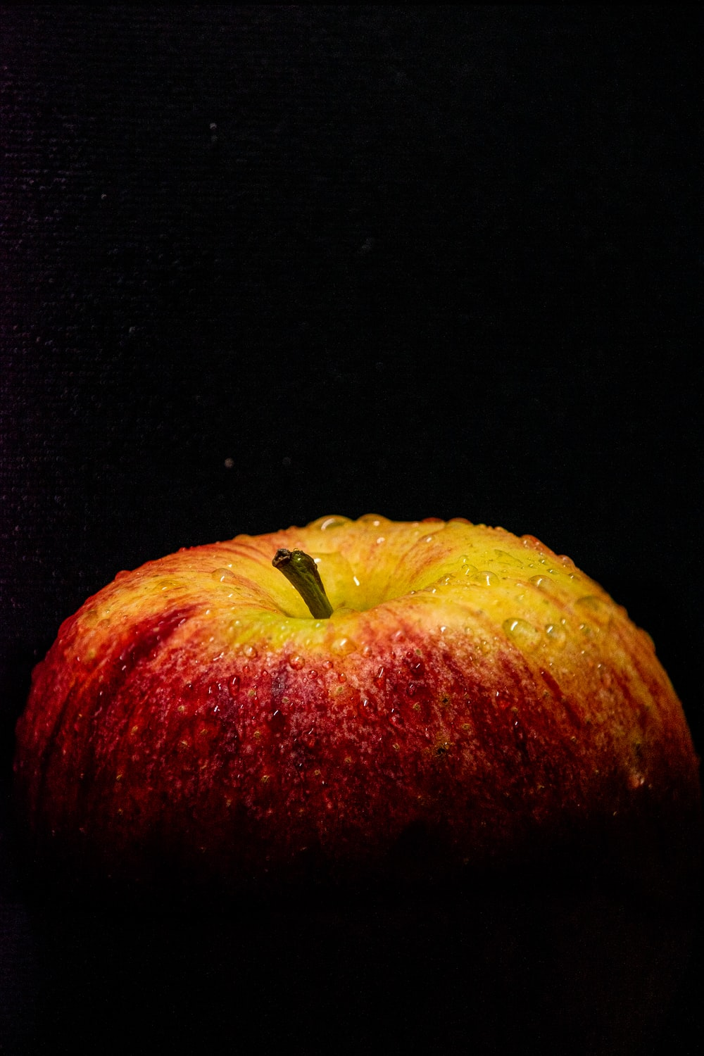 red and yellow apple fruit