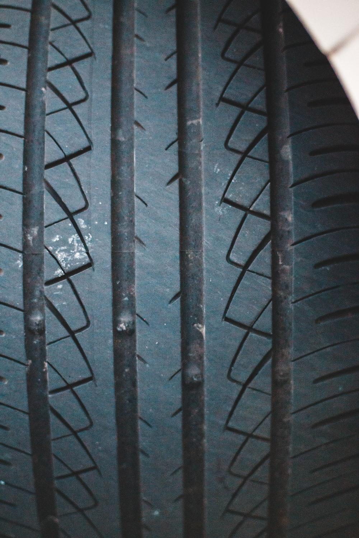 black car wheel with tire