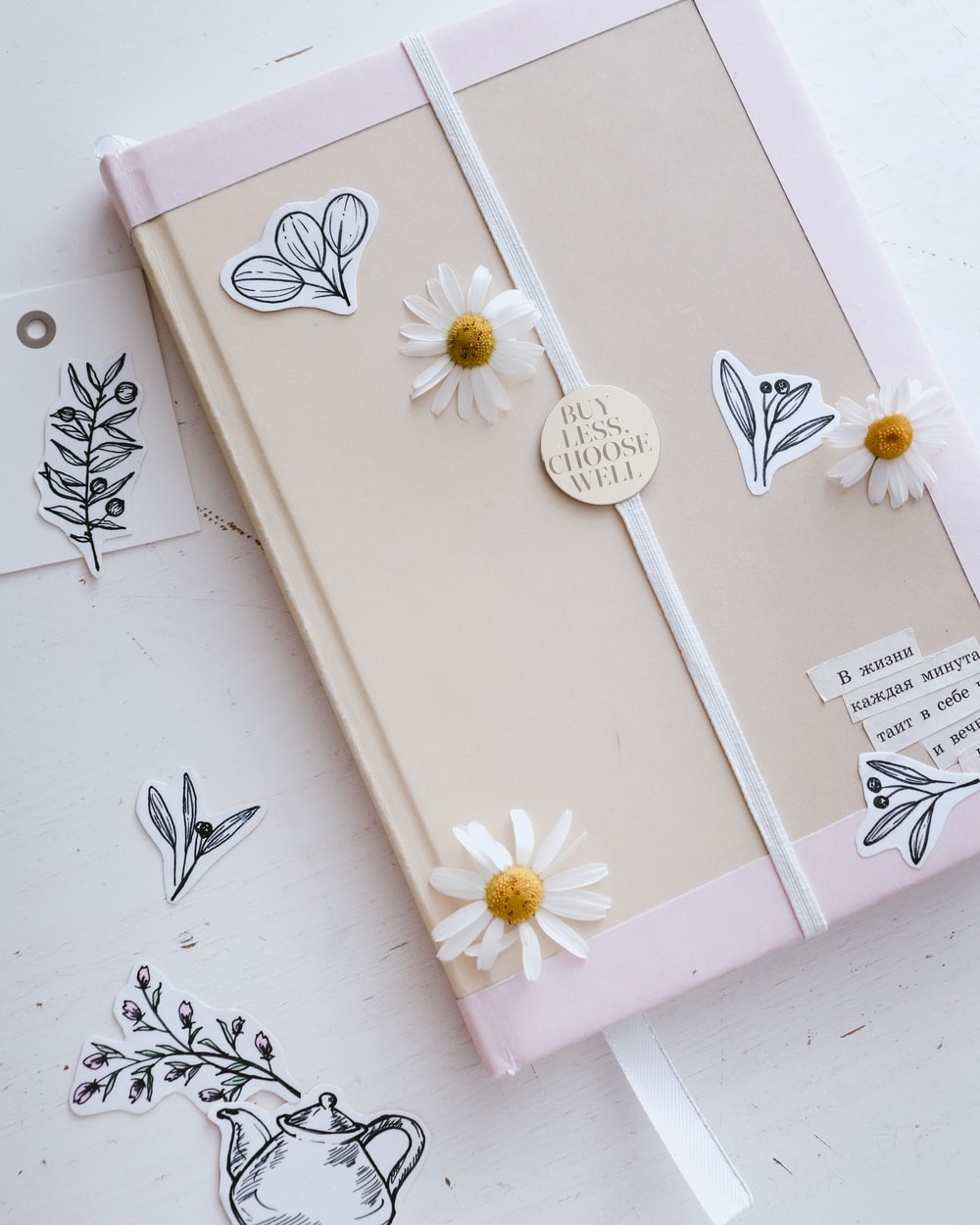 white and pink floral box