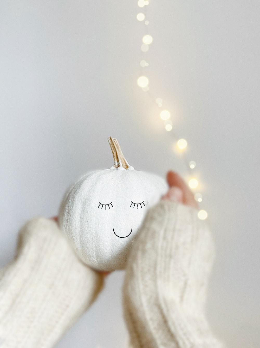 white love printed knit textile
