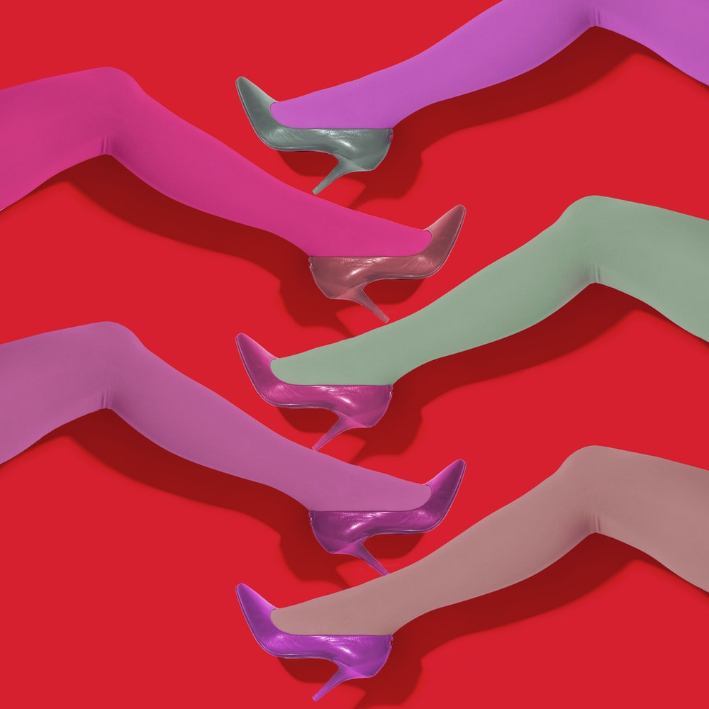 pink 3 d image of a persons feet