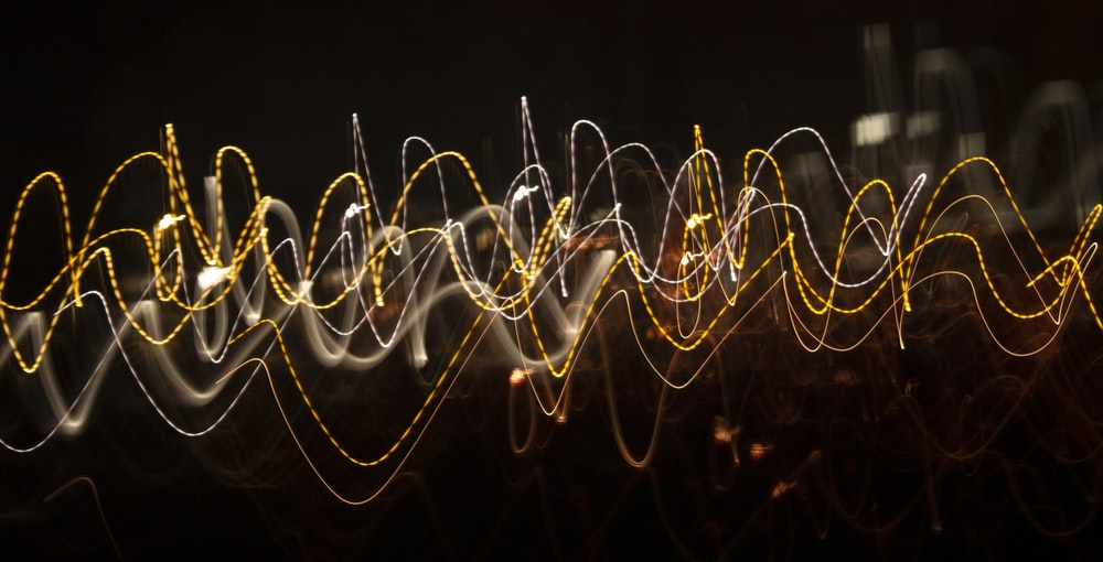 yellow and red light streaks