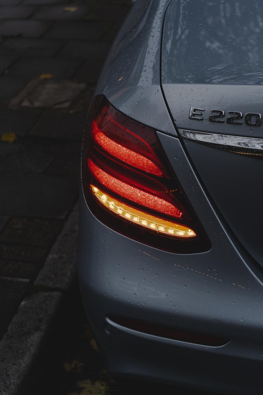 black car on gray concrete road