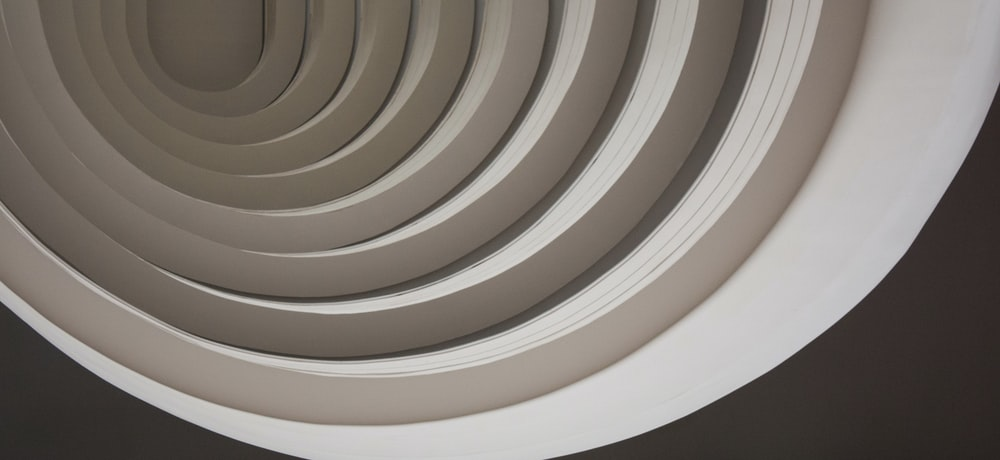 white and brown round ceiling