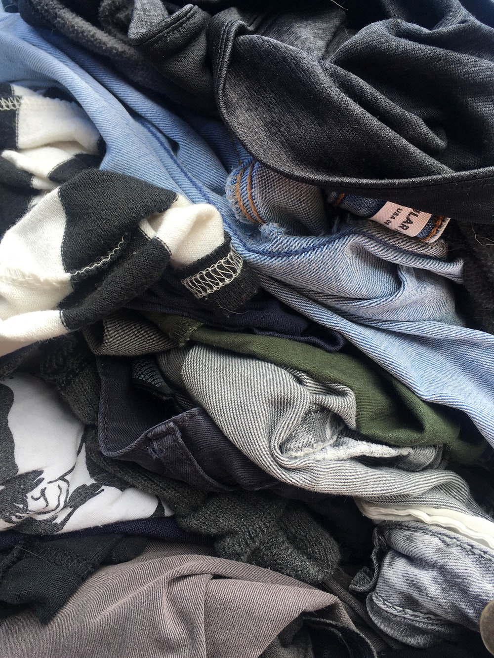 blue denim jeans on blue denim jeans