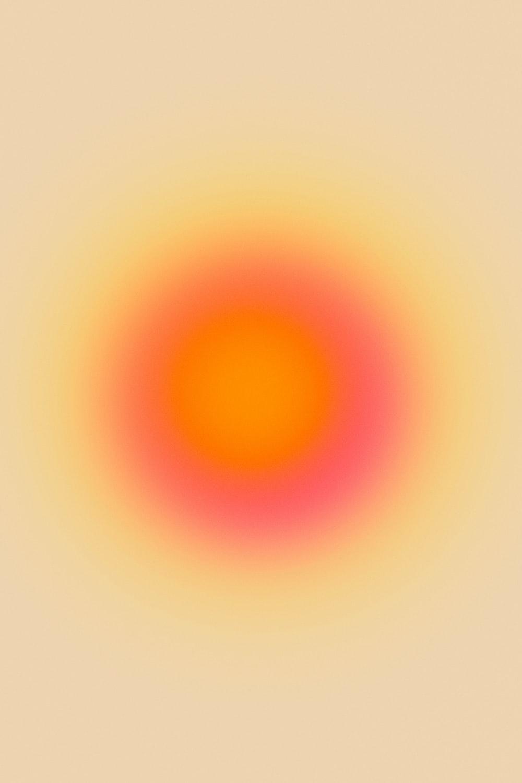 yellow and orange sun illustration