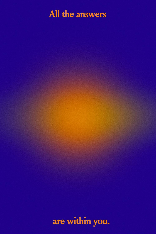 blue and yellow sun light