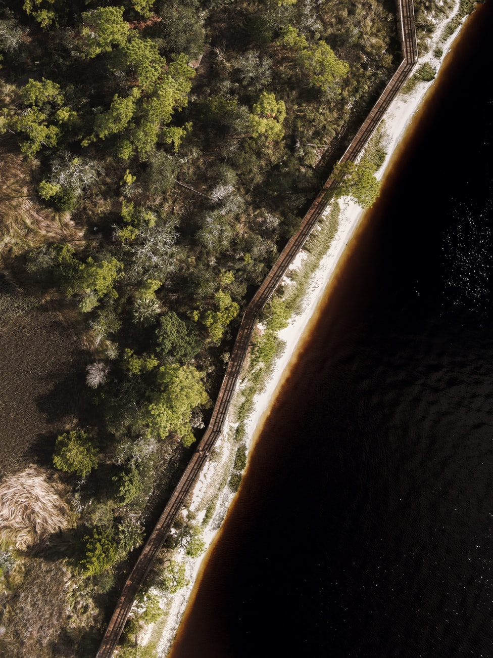 arial view of the beach in Jacksonville, FL