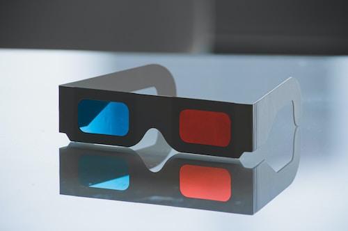 3D brýle papírové