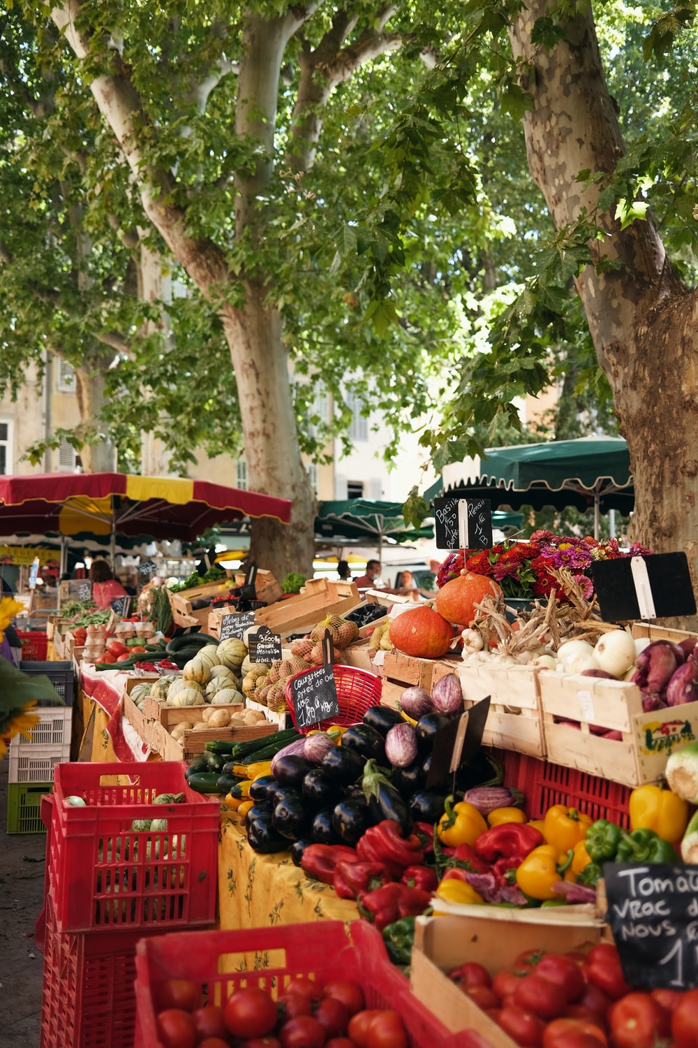 fruit stand on the street during daytime