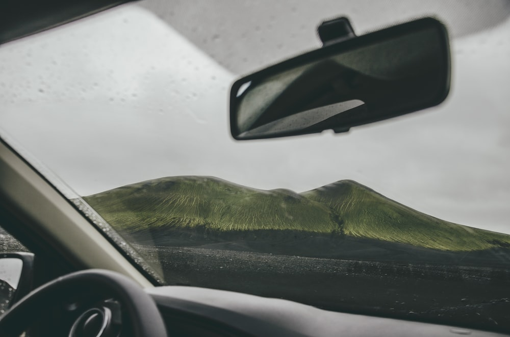 black and green car door