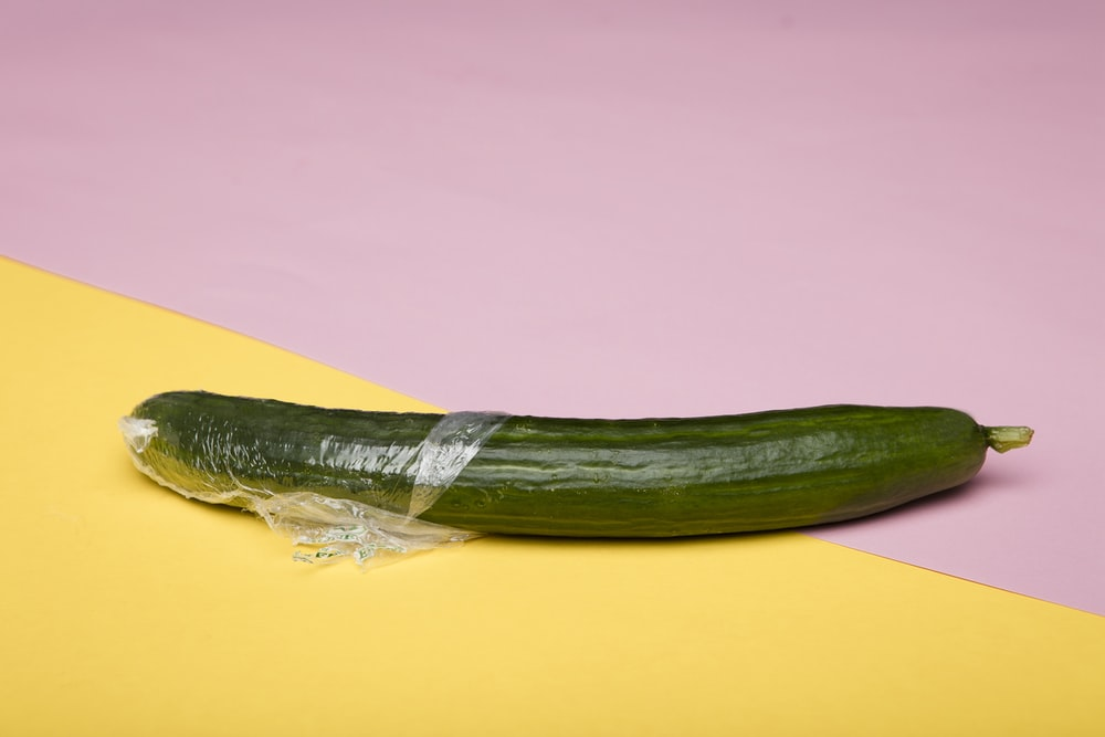 green vegetable on yellow surface