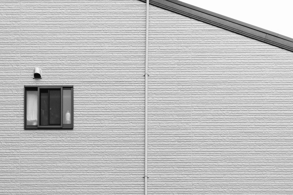 white and black wooden house