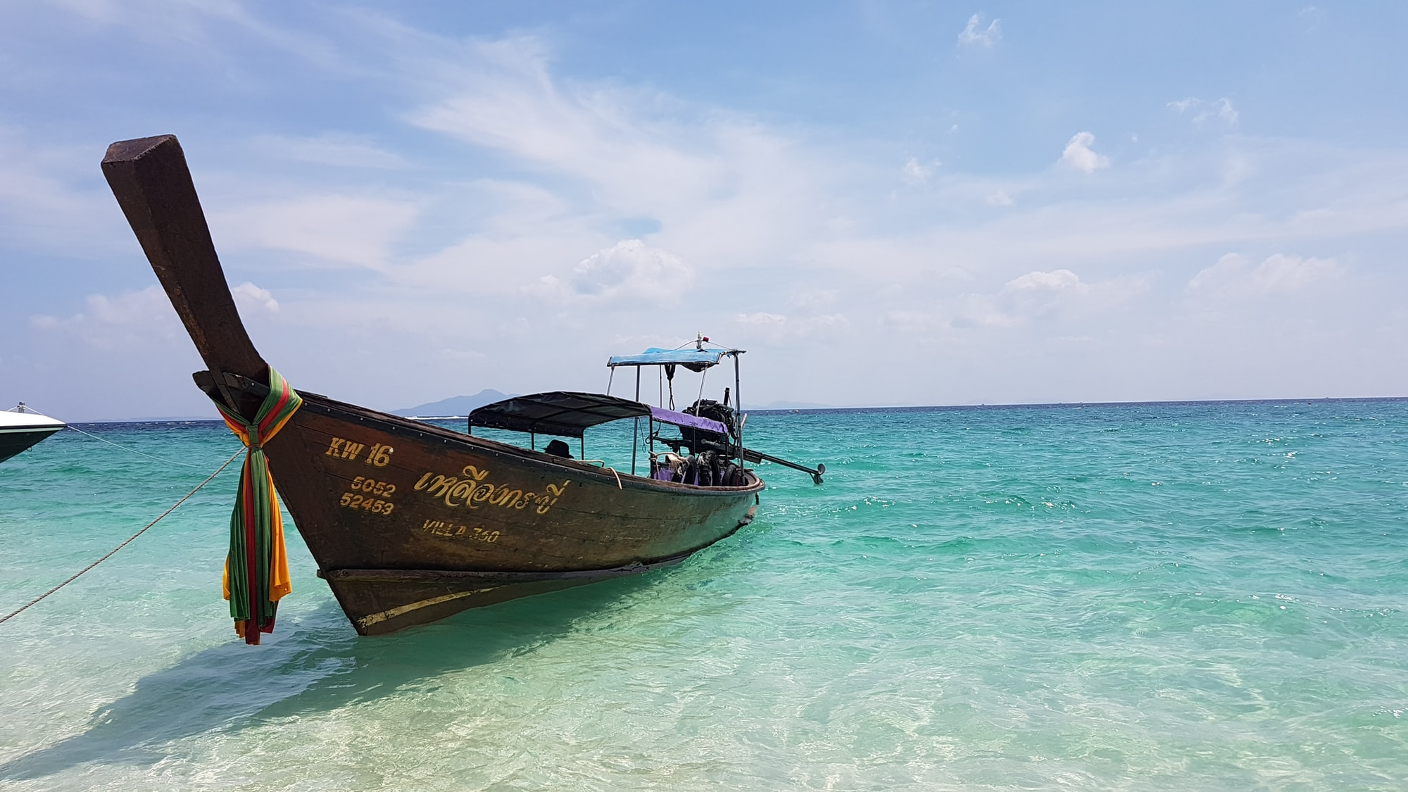 Thai style boat in Krabi, Thailand.